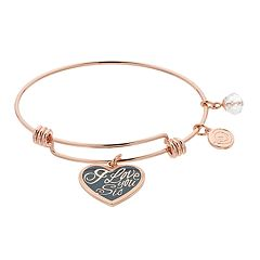 love this life 'I Love You Sis' Bangle Bracelet