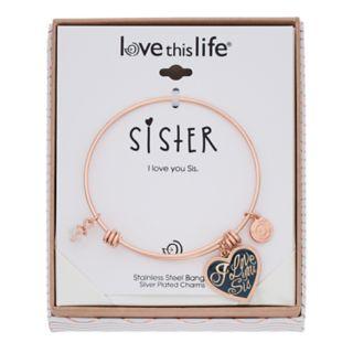 "love this life ""I Love You Sis"" Bangle Bracelet"