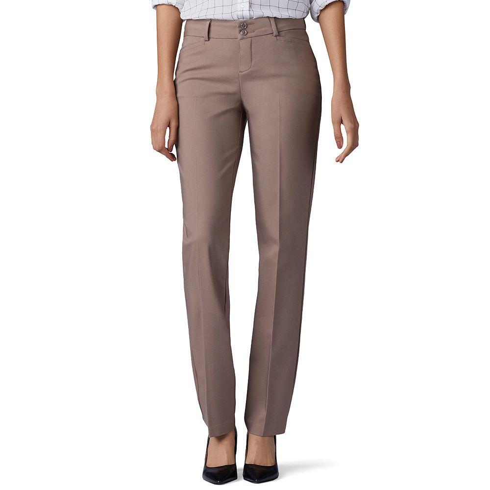 Women's Lee® Secretly Shapes Twill Straight-Leg Pants