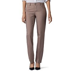 Women's Lee Secretly Shapes Twill Straight-Leg Pants