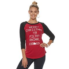 Juniors' Home Alone 'Merry Christmas Filthy Animal' Christmas Graphic Tee