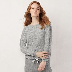 Women's LC Lauren Conrad Weekend Drawstring-Hem Sweatshirt