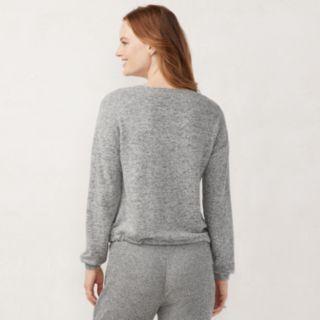 Women's LC Lauren Conrad Weekend Drawstring-Hem Sweatshirt