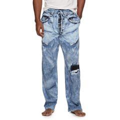 Men's Denim-Like Lounge Pants