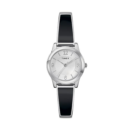 Timex Womens Black and Silver Expansion Watch