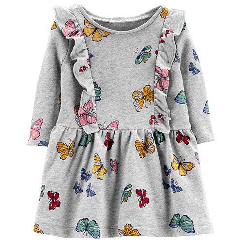 Baby Girl Carter's Print Ruffled Dress