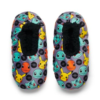 Boys 4-20 Pokemon Plush Slippers