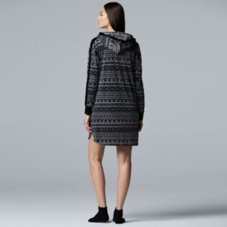 Women's Simply Vera Vera Wang Hooded Sleepshirt & Sock Set
