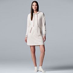 Women's Simply Vera Vera Wang Hooded Sleepshirt & Sock Set