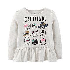 Baby Girl Carter's Embellished Graphic Peplum-Hem Tee