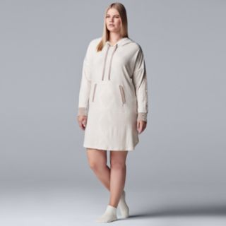 Plus Size Simply Vera Vera Wang Hooded Sleepshirt & Sock Set