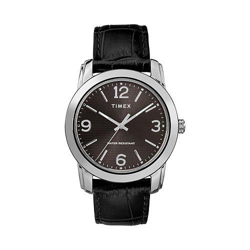 Timex Men's Leather Watch - TW2R86600JT