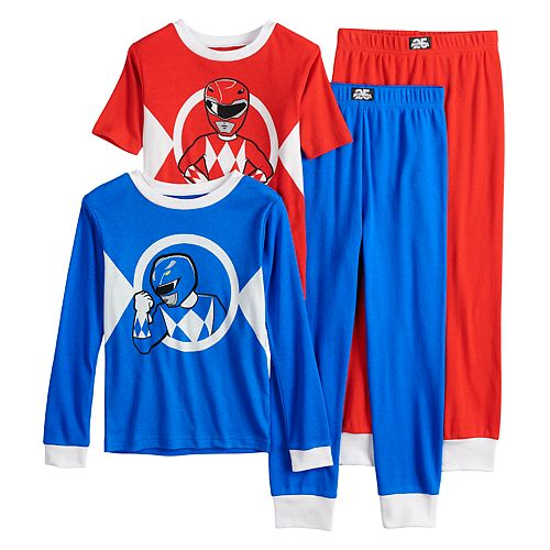 Boys 4 10 Power Rangers 4 Piece Pajama Set