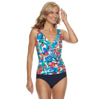 Women's Croft & Barrow® Ruched One-Piece Swimsuit