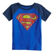Toddler Boy Marvel Superman Logo Raglan Graphic Tee