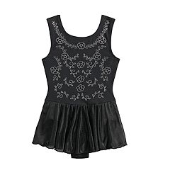 Girls 4-16 Jacques Moret Floral-Studded Skirtall