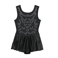 Girls 4-16 Jacques Moret Floral-Studded Skirtall