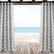 "Lush Decor 2-pack Edward Trellis Indoor & Outdoor Window Curtains - 52"" x 84"""