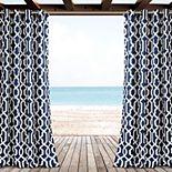 "Lush Decor 2-pack Edward Trellis Indoor & Outdoor Window Curtains - 52"" x 84"""