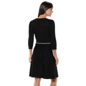 Women's ELLE? Scalloped Sweater Dress