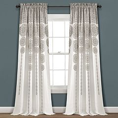 Lush Decor 2-pack Stripe Medallion Room Darkening Window Curtains - 52' x 84'