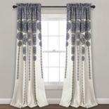 "Lush Decor 2-pack Stripe Medallion Room Darkening Window Curtains - 52"" x 84"""