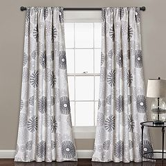 Lush Decor 2-pack Multi Circles Room Darkening Window Curtains - 52' x 84'
