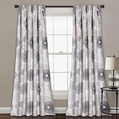 Lush Decor 2-pack Multi Circles Room Darkening Window Curtains - 52' x 84'