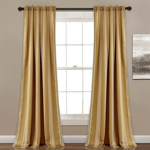 "Lush Decor 2-pack Julia Stripe Room Darkening Window Curtains - 52"" x 84"""