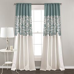 Lush Decor 2-pack Estate Garden Print Room Darkening Window Curtains - 52' x 84'