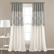 "Lush Decor 2-pack Estate Garden Print Room Darkening Window Curtains - 52"" x 84"""