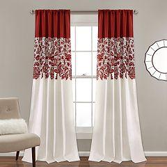Lush Decor 2-pack Estate Garden Print Room Darkening Window Curtains - 52' x 84'