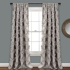 Lush Decor 2-pack Ruffle Diamond Window Curtains - 54' x 84'