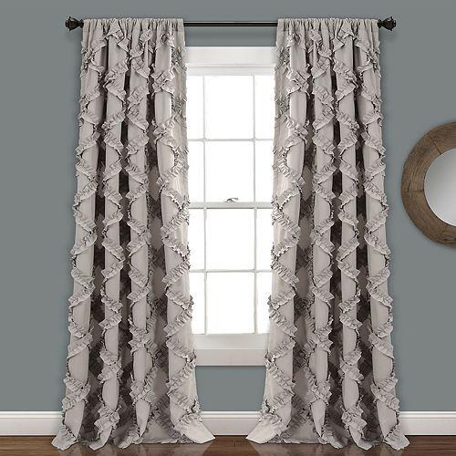 "Lush Decor 2-pack Ruffle Diamond Window Curtains - 54"" x 84"""