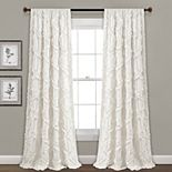 Lush Decor 2-pack Ruffle Diamond Window Curtains