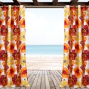 "Lush Decor 2-pack Leah Floral Indoor & Outdoor Window Curtains - 52"" x 84"""