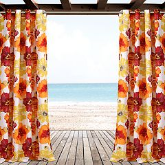 Lush Decor 2-pack Leah Floral Indoor & Outdoor Window Curtains - 52' x 84'