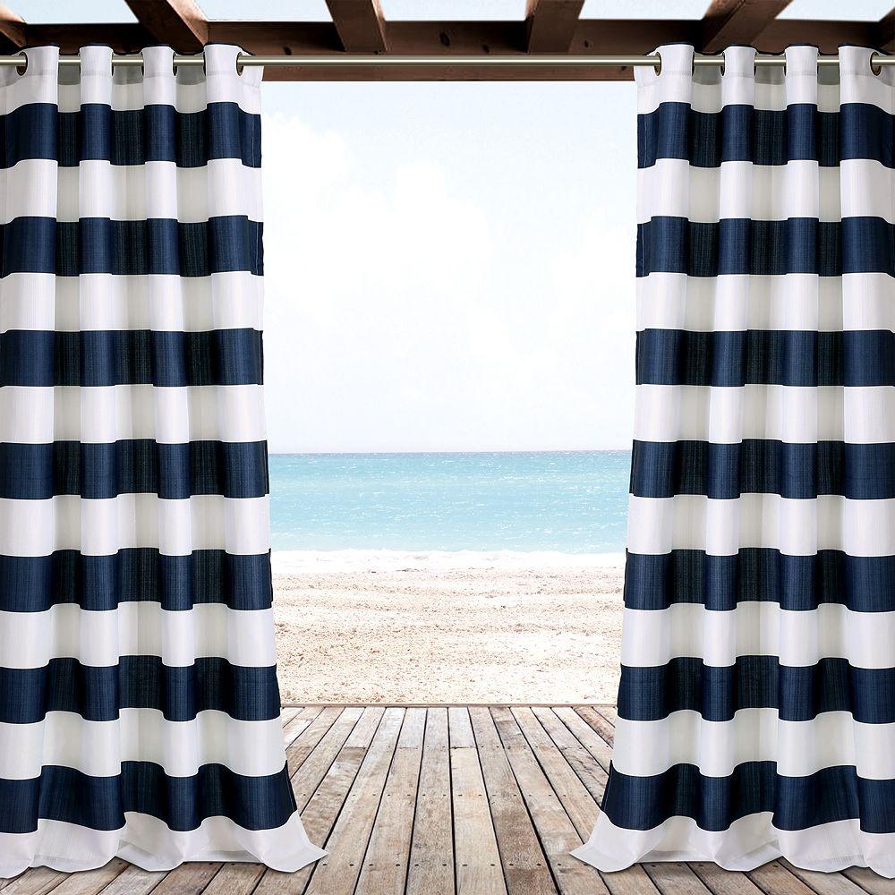 "Lush Decor 2-pack Stripe Indoor & Outdoor Window Curtains - 52"" x 84"""