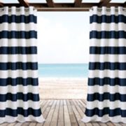 "Lush Decor 2-pack Stripe Indoor & Outdoor Window Cutains - 52"" x 84"""