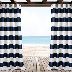 Lush Decor 2-pack Stripe Indoor & Outdoor Window Cutains - 52' x 84'
