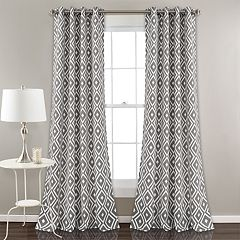 Lush Decor 2-pack Diamond Geo Room Darkening Window Curtains - 52' x 84'
