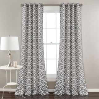 "Lush Decor 2-pack Diamond Geo Room Darkening Window Curtains - 52"" x 84"""