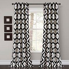 Lush Decor 2-pack Diamond Ikat Room Darkening Window Curtains - 52' x 84'