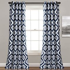 Lush Decor 2-pack Diamond Ikat Room Darkening Window Curtains - 52' x 84'