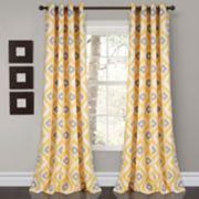 "Lush Decor 2-pack Diamond Ikat Room Darkening Window Curtains - 52"" x 84"""