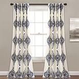 "Lush Decor 2-pack Keya Medallion Room Darkening Window Curtains - 52"" x 84"""