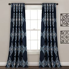 Lush Decor 2-pack Keya Medallion Room Darkening Window Curtains - 52' x 84'