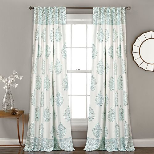 "Lush Decor 2-pack Teardrop Leaf Room Darkening Window Curtains - 52"" x 84"""