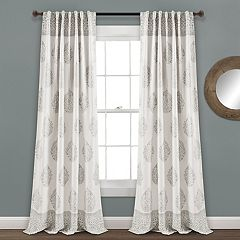 Lush Decor 2-pack Teardrop Leaf Room Darkening Window Curtains - 52' x 84'