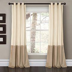 Lush Decor 2-pack Prima Velvet Color Block Room Darkening Window Curtains - 38' x 84'